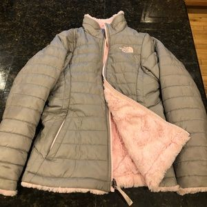The North Face reversible girls jacket 10/12